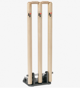 AJ Sports Spring Return Stumps with bails<br> <span style='color:grey'>RRP: <span style='color:red;text-decoration:line-through'> <span style='color:grey'>£49.99</span> </span>